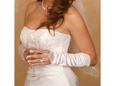 se Ellenbogen Länge Braut Handschuhe (Weiß Ellenbogen Länge Handschuhe)