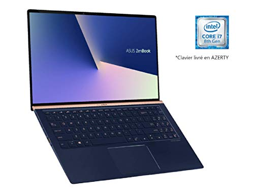 "Asus ZenBook UX533FD-A9030T PC Portable 15"" FHD (Intel Core i7-8565U, RAM 16Go, 512Go SSD PCIE, Nvidia GTX 1050 2Go, Windows 10) Clavier AZERTY Français"