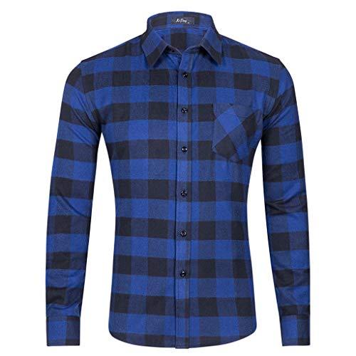 Camicia uomo camicia da uomo bianca a maniche lunghe camicia da uomo blu doppia tasca camicia da uomo slim fit qinsling