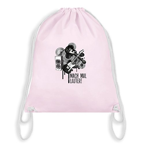 Statement Shirts - Mach mal lauter! - Unisize - Pastell Rosa - WM110 - Turnbeutel & Gym Bag