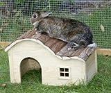 Kerbl NATURE PLUS Häuschen WELLE, Holzhaus, Hütte für Kleintiere