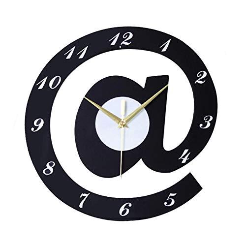 NgFTG Reloj De Pared Silencioso Non-Ticking, Cuarzo De Calidad Esfera Grande Fácil De Leer,Alimentado...