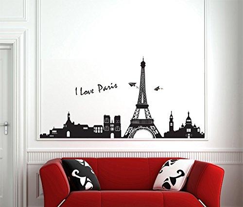 Ufengke Famosa Serie Paesaggio Urbano Torre Eiffel A Parigi Adesivi