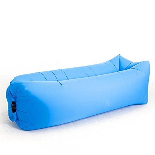 Portátil Sofá Hinchable Impermeable Portable Lazy Lounger Saco De Dormir  Interior Al Aire Libre Azul Talla