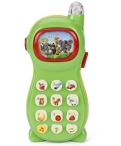 Prefun Learning Mobile Phone Toy for Kids with Image Projection - Multi Color