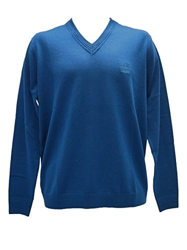 aquascutum-golf-v-neck-jumper-mens-teal-blue-medium