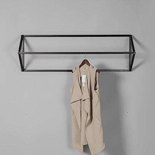 YMJ Wandgarderobe Garderoben Bekleidungsgeschäft Kleidung Ausstellungsstand Retro Eisen Wandmontage Seitliche Hängegestelle Hängende Gestelle Regale Regale Garderobe (größe : 90 * 25 * 40cm) (Kleidung, Hängende Wandmontage)