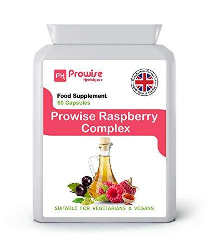 Prowise Raspberry Complex - 60 Capsules (Advance Formulation) | RASPBERRY FRUIT EXTRACT | GREEN TEA | CAYENNE POWDER | CAFFEINE | GREEN TEA EXTRACT | ACAI BERRY & APPLE CIDER VINEGAR