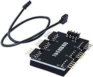 XT-XINTE 1 إلى 6 رغب مروحة محور الخائن PWM تحكم 5V 3PIN/12V 4 دبوس مروحة برودة الكمبيوتر اللوحة الأم السمفونية