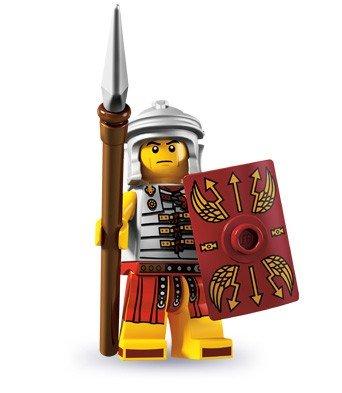 LEGO 8827 - Minifigur Römischer Soldat aus Sammelfiguren-Serie 6 (Lego-mini-serie 6)