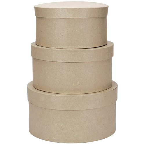 Darice Karton Paper-Mache Runde Box Set -4-inch, 12,7cm und 15,2cm