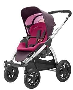 Maxi-Cosi 68105370 Mura 4 flexibles Travelsystem inklusive Einkaufskorb, Sonnenverdeck, Regenverdeck, Sonnenschirmclip und Adapter für Dreami und Babyschale, sweet cerise