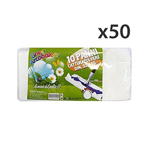 Set 50 ARCOBALENO Panni Polvere 30x65 * 10 Pezzi Attrezzi Pulizie