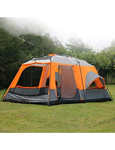 MDZH Zelt Ultralarge Zelte Hochwertige 1 Halle 2 Schlafzimmer 6 8 10 12 Outdoor Camping Zelt 215 cm Höhe wasserdichte Party Familienzelt