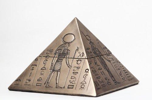 Egipcio Dioses Pyramid Caja Contenedor De Egipto Jewelry Figura Estatua 8076