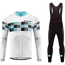 Uglyfrog Maillot de Ciclismo Ropa Ciclismo Conjunto para Hombre Culotte Manga Larga+Bib Pantalones Transpirable