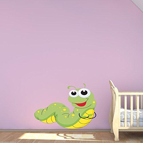 Wand Smart Designs wsd188l Baby Raupe Bug Farbe Aufkleber Aufkleber Transfer Wandbild Mädchen Schlafzimmer Wand Kunst, mehrfarbig (Von Studie Bugs)