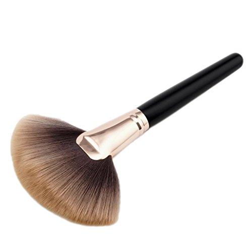 MagiDeal Fächerpinsel, Weiche und Professionelle Make-up Pinsel / Highlighter Pinsel / Foundation Concealer Powder Brush / Blush Brush Rougepinsel / Puderpinsel