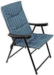 Folding and padded chair for trips and camping - Dark Blue AL015A