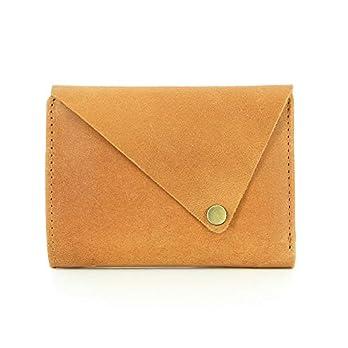 Portemonnaie aus Ökoleder, Geldbörse, Handmade, Handgemachter Geldbeutel, Brieftasche (Hellbraun)