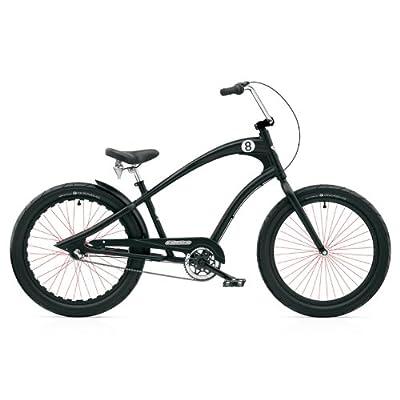 Electra Straight 8 8i Cruiser Men's Herren 8 Gang Fahrrad Cruiser Schwarz Black, 268213E