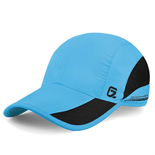 GADIEMENSS Quick Dry Sports Hat Lightweight Breathable Soft Outdoor Running Cap (Classic UP, Sky Blue) Tennis Hat