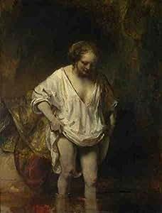 Rembrandt A Woman Bathing In A Stream (Hendrickje Stoffels) A3 Box Canvas Print