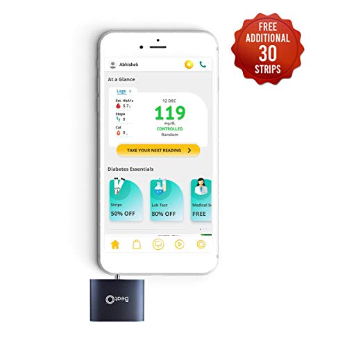BeatO Smartphone Glucometer with 20 Test Strips & Free 30 Test Strips