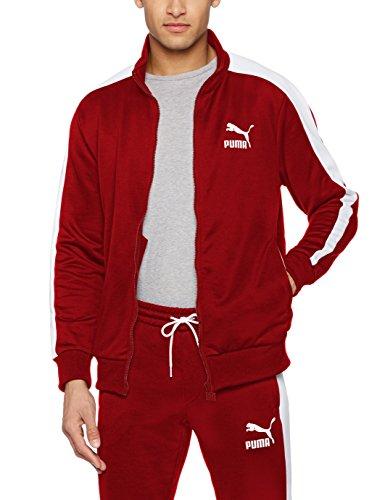 Jacket Puma Track Herren (PUMA Herren Archive T7 Track Jacket Jacke, Red Dahlia, L)