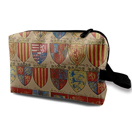 Royal Fabric Knights of The Round Table Portable Travel Makeup Cosmetic Bags Organizer Multifunction Case Toiletry Bags Knight Zip