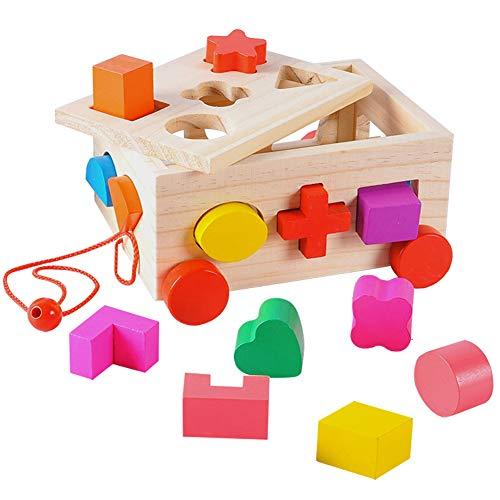 HERSITY Cubo Clasificación Forma Juegos Madera Niños
