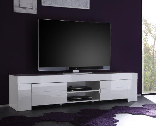 TV Schrank Eos groß mit 2 Türen, weiß Hochglanz