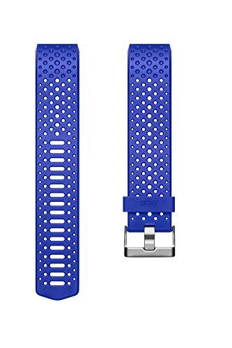 Fitbit charge 2, cinturino sport unisex – adulto, cobalto, l