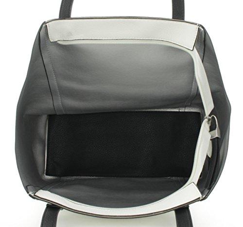 JSI Lookat Damen Shopper Bag-in-bag Beige Weiss