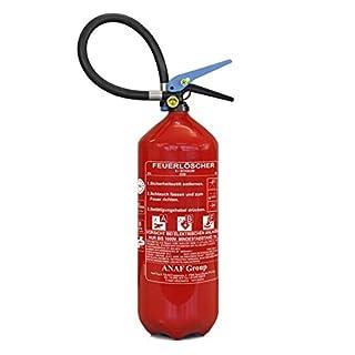 Feuerlöscher ABF 6 kg (6 l) mit Halterung und Manometer von ninux I Fettbrand-Löscher I Fettlöscher I Schaum-Löscher I Geeignet für Haushalt, Auto, Camping, Gastro