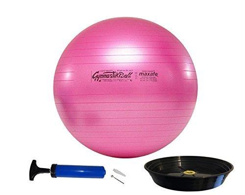 PEZZIBALL MAXSAFE Gymnastikball + Schale + Pumpe, 42, 53, 65, 75 cm, ALLE Farben (fuchsia, 65)