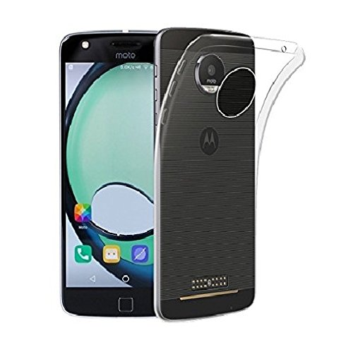 Royal Touch (R) Motorola Moto Z Play / Soft Slim Back Cover Case For Thin Durable Protective Crystal Clear Pro Transparent / Ultra Thin 0.3mm Clear Transparent Flexible Soft TPU Slim Back Case Cover for Motorola Moto Z Play