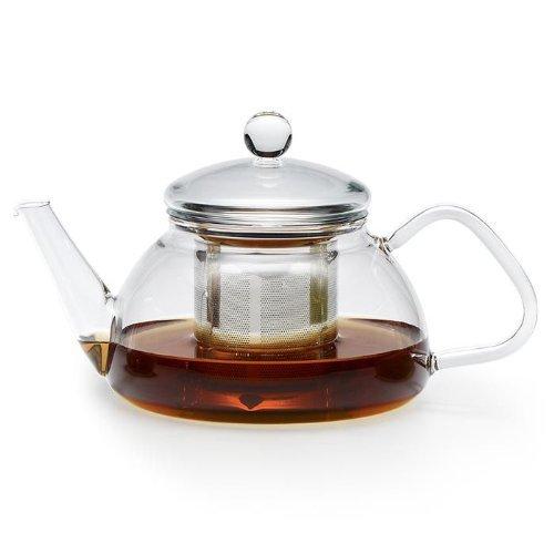 Trendglas Jena Teekanne THEO im traditionellen Design mit Edelstahlsieb, 0,6 Liter