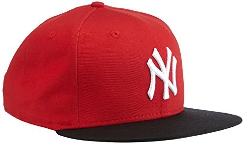New Era Herren Baseball Cap Mütze MLB 9 Fifty Block NY Yankees Snapback Scarlet/Black/White, M/L -