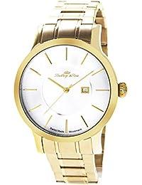 Lindberg & Sons LSSM303 - Reloj para hombre de cuarzo con correa de acero inoxidable color dorado