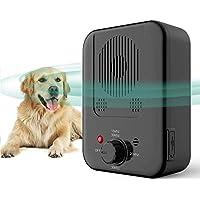 Queenmew Dispositivos Antiladridos, Recargable Anti ladrido de Perros, Inhibidor de Ladridos Sónico a Prueba de Agua para Exterior, Artículos de Entrenamiento de Ladrido Perros Seguro y Humano
