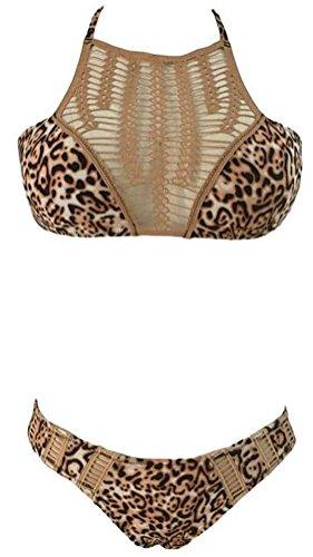 SunIfSnow Bikini - Costume due pezzi - Basic - Senza maniche - ragazza Marrone marrone