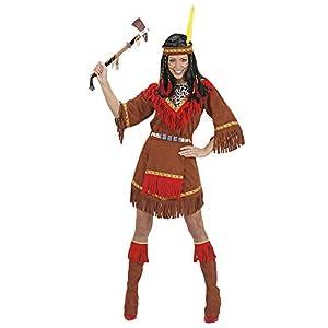WIDMANN Indian Woman Costume (Dress, Apron, Boot Covers, Headpiece), Size XL (disfraz)