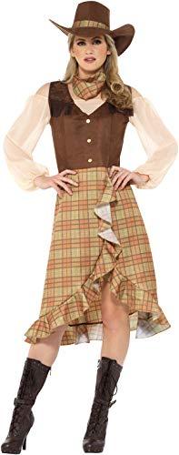 Karneval Kostüm Cowgirl Damen - Smiffys Cowgirl Westernkleid Damen Kostüm Karneval