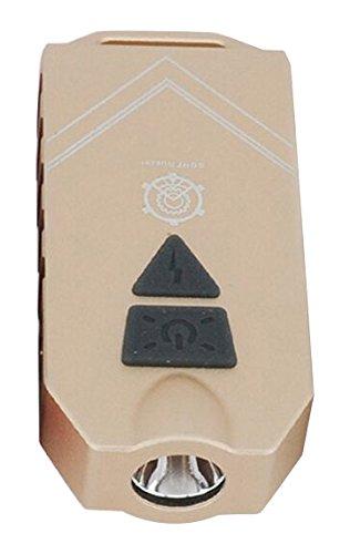 MecArmy SGN7 aufladbare persönliche Alarm Lampe mit 550 Lumen, Farbe:gold (Alarm Light Strobe)