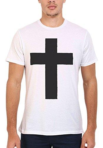 Cross Religion Cool Funny Men Women Damen Herren Unisex Top T Shirt .Weiß