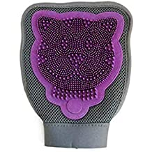 Huangyingui Pet Clean Grooming Bath Massage Glove Brush Hair Peine para Perros Gatos Conejos Chinchillas -