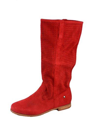 Rebelde, Damen Stiefel & Stiefeletten Rot
