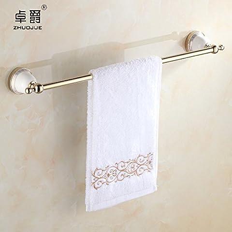 Bagno accessori-stile dorato in ceramica bagno Portasciugamani doppio asciugamano rack