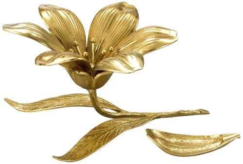 Cenicero con diseño de flor, fabricado en bronce, 13 x 13 cm